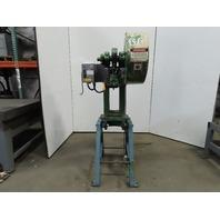"""Alva Allen BT12 Mechanical 12 Ton OBI Punch Press 15"""" Opening 5"""" Throat 1HP 3 Ph"""