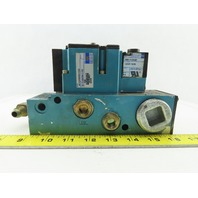 MAC 6211C-518-PM-111DA Pneumatic Air Solenoid Valve W/PME-111DABE 120V Coil