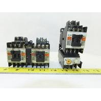 Fuji 4NC0A0 SC-03 600V 5Hp Magnetic Contactor 100-110V Coil Lot Of 3