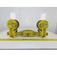 "CM 3K7143 3-1/2"" I-Beam Girder Underhung Bridge Crane Push Pull Trolley"