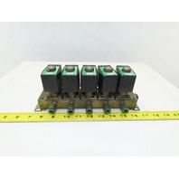 CKD GAB4X Single Solenoid Pneumatic Valve Bank Manifold 110V Coil