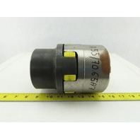 """1-3/4"""" x 2-1/2"""" Keyed Bore Flexible Jaw Shaft Coupling Assembly W/Spider"""