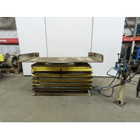 """Air float 4000Lb Pneumatic Air Scissor Lift Table 84x40"""" Turntable Top 15 to 38"""""""