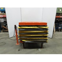 """4000Lb Capacity Air Pneumatic 48x45"""" Scissor Lift Table 24"""" to 48"""" Height"""