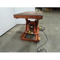 """Southworth LS4-24 4000Lb Hydraulic Scissor Lift Table 34""""x28"""" Top 10-43"""" Ht 115V"""