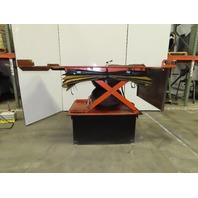 "1000 Lb Pneumatic Air Scissor Lift Table 83""x51"" Top 27-1/2""-52-1/2"" Height"