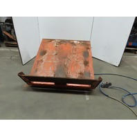 "4000lb Capacity Air Pneumatic 30° Tilt Lift Table Upender 48""x48"" Top"