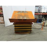 "Hovair 4000Lb Pneumatic Scissor Lift & 35° Tilt 69""x56"" Table 16"" to 39-3/4"" Ht."