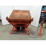 "4000lb Capacity Pneumatic 30° Tilt Lift Table 54""x54"" Top 17""-36"" Height"