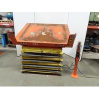 "4000lb Capacity Pneumatic 30° Tilt Lift Table 66""x50"" Top 17""-41"" Height"