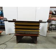 "Pneumatic Air Scissor Lift Table 2000Lb 90""x51"" Top 30""-54"" Height"