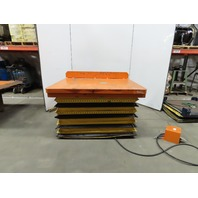 "Pneumatic Air Scissor Lift Table 2000Lb 60""x49"" Turn Top 13-1/2""-36"" Height"