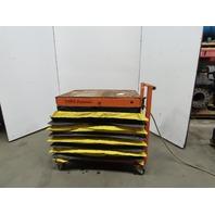 "1800Lb Cap. Die Cart Pneumatic Scissor Lift 39""x28"" Table 15""-38-1/2"" Height"
