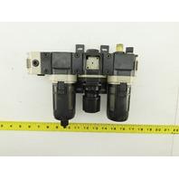 "CKD L3000 R3000 F3000 3/8"" FRL Filter Regulator Lubricator Assembly"