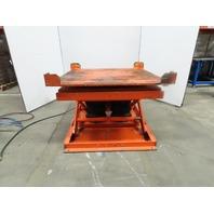 "4000Lb Capacity Pneumatic Scissor Lift 50""x50"" Turn Table 13""-32"" Height"