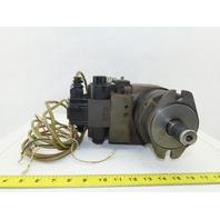 """Daikin  EDM 174A-1R2-3-10-052 Hydraulic Motor W/ Valves 1"""" Shaft 100V Coil"""