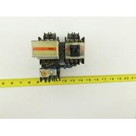Fuji SC-0 TR-0N/3 600V 5Hp Reversing Contactor 0.8-1.2A Trip Overload