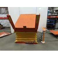 "4000Lb Pneumatic Scissor Lift & 30° Tilt 66""x50"" Table 17-1/2"" to 39"" Height"