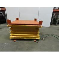 "2000Lb Capacity Pneumatic Scissor Lift 56""x50"" Turn Table 13-1/2-30-1/2"" Height"