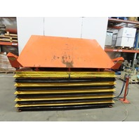"4000Lb Pneumatic Scissor Lift & 30° Tilt 100""x72"" Table 13""to 43"" Height"