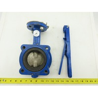"Grinnell LC-8101-3 Series 8000 Butterfly Valve 2-1/2"" 250psi WP W/ Handle"