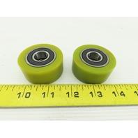 "2"" x 15/16"" W Hard Plastic Conveyor Skate Wheel 15mm Bearing Bore Lot Of 2"