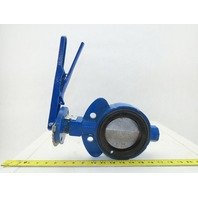 "Keystone Trim 723 4"" Wafer Type Butterfly Valve Bunga Seal Fig AR1 W/Handle"