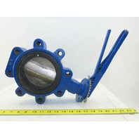 "Keystone TRIM 066 5"" Wafer Type Butterfly Valve Fig AR2 W/Handle 50PSI CWP"