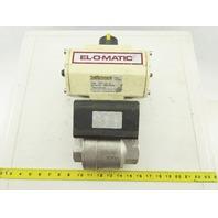 """EL-O-Matic EDA 100-A Double Acting Pneumatic Actuator W/2"""" NPT SS Ball Valve"""