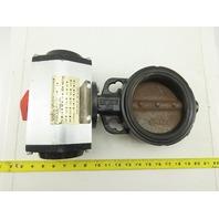 "Sure Torque Series ST-DA Model I-103 Pneumatic Actuator W/5"" Butterfly Valve"