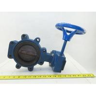 """Keystone 4"""" Butterfly valve W/24:1 Hand Wheel"""