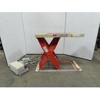 """4000LB Cap Air Over Hydraulic Lift Table 48-1/2""""x24-1/2"""" Top 7-1/2"""" To 43-1/2""""H"""