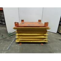"4000Lb Capacity Pneumatic Scissor Lift 50""x50"" Turn Table 10-1/2-31"" Height"
