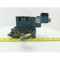 MAC MV-A1C-A111-PM-AA330 Solenoid Valve W/MM-A1c-231 Base & 120V Coil