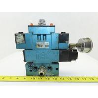 MAC MV-A1C-A251-PM-111DA9 Pneumatic Solenoid Valve W/Base & 120V Coil
