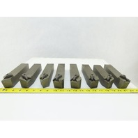 "Dijet MTBNR-254K4 1-1/2""x1-1/2"" Indexing Insert Lathe Tool Holder Mixed Lot Of 8"