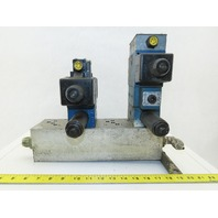 Rexroth Hydraulic valves W/3 Port Manifold Base Assembly