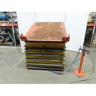 "4000lb Capacity Pneumatic Scissor Lift Table 30° Tilt 54""x54"" Top 16""-43"" Height"