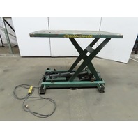 "Southworth 2000lb Cap Hydraulic Scissor Lift Table 54""x44"" 10-31"" Ht 115V 1Phase"