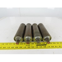 "2.5"" OD x 9"" BF Flat Conveyor Gravity Roller 11/16"" Hex Axle Lot of 4"
