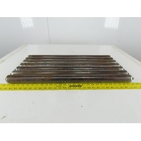"1.9"" OD 26-3/4"" BF 26-1/2"" Face Width Flat Gravity Conveyor Roller Lot Of 7"