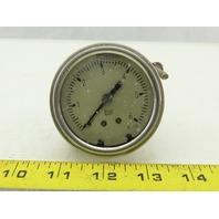 """Pneumatic 2-1/2"""" Panel Mount Oil Filled Pressure Gauge 0-6 Bar"""