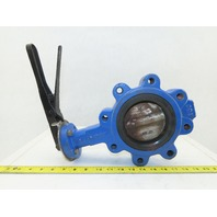 "BI-TORQ 4"" Butterfly Valve 8 Bolt Flange W/Handle"