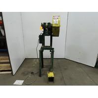 """Rousselle 0E Mechanical 5 Ton OBI Punch Press 1-1/4"""" Stroke 4"""" Throat 3Ph"""