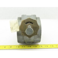 "North American MFG 1122-6 Manual Butterfly Valve 3"" Npt"