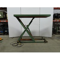 "2000 LB Capacity Hydraulic Scissor Lift Table 96""x32"" Top 6""-78"" Lift Ht. 115V"