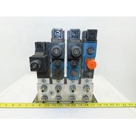 Rexroth 4WE6C61/EW110N9DK23L 4 Port 2 and 3 Position Valve Check Manifold Block