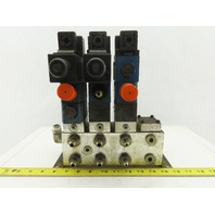 Rexroth Z2S 6-1-64/V 4 Port 2 & 3 Way Regulated Check Hydraulic Valve Assembly