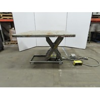 "American T36-044 2500Lb Scissor Lift Table 61x 60"" Top 460V 3Ph 7"" to 43"" Height"