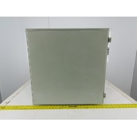 """Hoffman  A242408LP Electrical Enclosure 24x24x8"""" Wall Mount Hinged W/Back Plate"""
